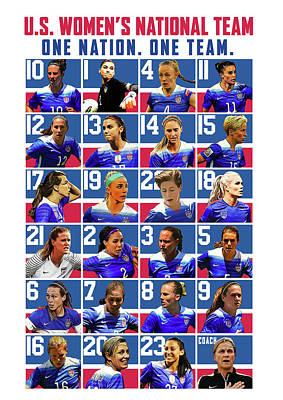 Sports Digital Art - Women's U.s. Soccer by Semih Yurdabak