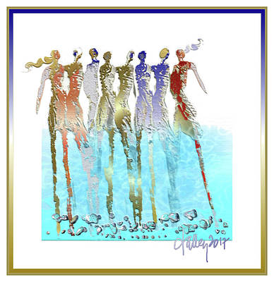 Mixed Media - Women Chanting - Spring Watersong by Larry Talley