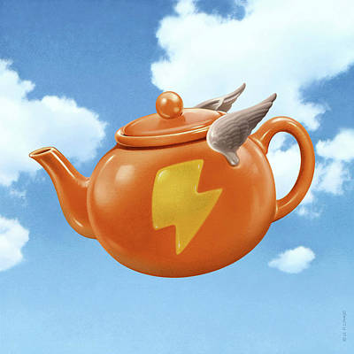 Mixed Media - Wonder Teapot by Udo Linke