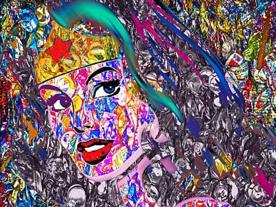 Comics Mixed Media - Wonder by Tony Rubino