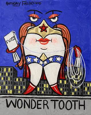 Wonder Tooth Print by Anthony Falbo