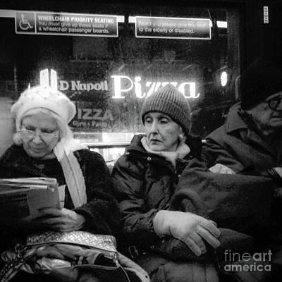 Photograph - Wonder What Happened Today - New York City Bus by Miriam Danar