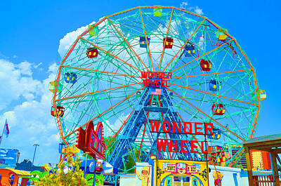 Wonder Wheel Amusement Park 7 Art Print by Lanjee Chee