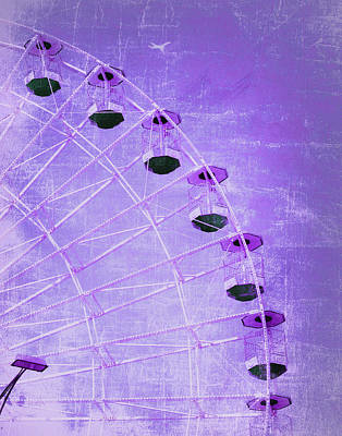 Photograph - Wonder Wheel And Plane Series 3 Purple by Marianne Campolongo