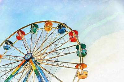 Amusement Parks Painting - Wonder Wheel by Edward Fielding