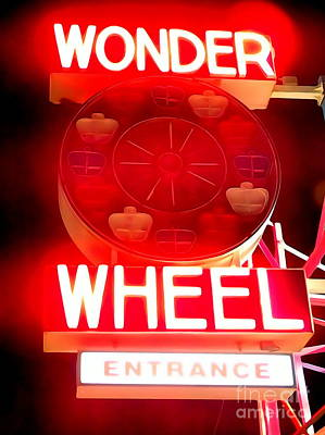 Photograph - Wonder Wheel Entrance by Ed Weidman