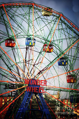 Luna Park Photograph - Wonder Wheel by HD Connelly
