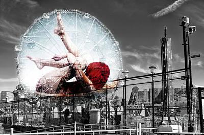 Photograph - Wonder Wheel Wonders by John Rizzuto