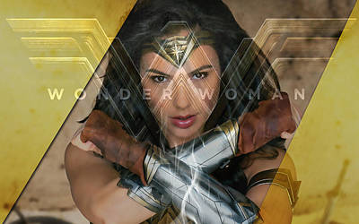 Mixed Media - Wonder Woman Art by Marvin Blaine
