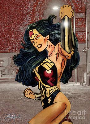Wonder Woman Art Print by Bill Richards