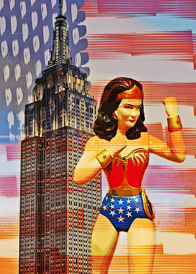Photograph - Wonder Woman Defender Of Freedom by Aurelio Zucco