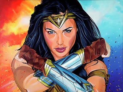Ben Affleck Painting - Wonder Woman by Gary DeStefano
