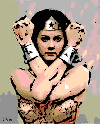 Comics Royalty-Free and Rights-Managed Images - Wonder Woman by George Pedro