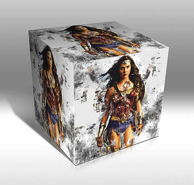 Mixed Media - Wonder Woman by Marvin Blaine