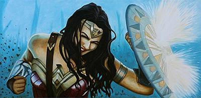 Painting - Wonder Woman No Man's Land by Al  Molina