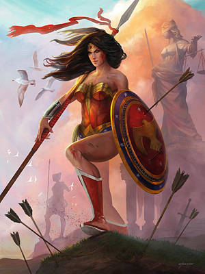 Digital Art - Wonder Woman by Steve Goad