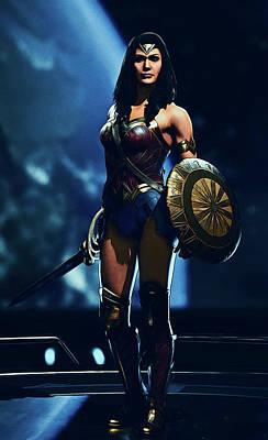 Painting - Wonder Womand - Dc Comics by Andrea Mazzocchetti