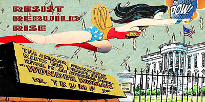 Mixed Media - Wonder Women  by Linda Weinstock