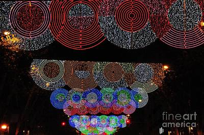Photograph - Wonderful And Spectacular Christmas Lighting Decoration In Madrid, Spain by Akshay Thaker 'PhotOvation'