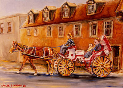 Caleche Painting - Wonderful Carriage Ride by Carole Spandau