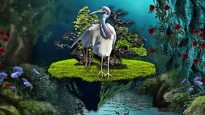 Fantasy Art Mixed Media - Wonderful Day by Marvin Blaine