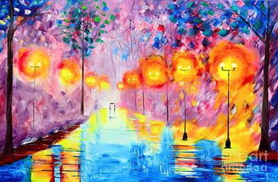 Wonderful Rainy Nights Art Print