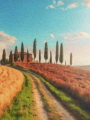 Painting - Wonderful Tuscany, Italy - 01 by Andrea Mazzocchetti