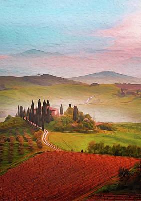 Painting - Wonderful Tuscany, Italy - 03 by Andrea Mazzocchetti