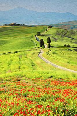 Painting - Wonderful Tuscany, Italy - 04 by Andrea Mazzocchetti
