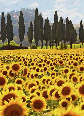 Painting - Wonderful Tuscany, Italy - 06 by Andrea Mazzocchetti