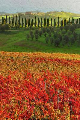 Painting - Wonderful Tuscany, Italy - 07  by Andrea Mazzocchetti