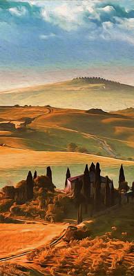 Painting - Wonderful Tuscany, Italy - 08 by Andrea Mazzocchetti