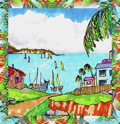 Wonderful Village Art Print by Margaret Wingstedt