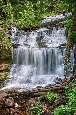 Photograph - Wonderful Wagner Waterfall by Peg Runyan