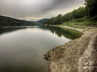 Photograph - Wonderfully Calm Lake - Abendstimmung Am Diemelsee by Eva-Maria Di Bella