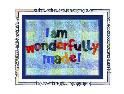 Wonderfully Made Art Print by Judy Dodds