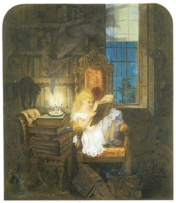 Library Painting - Wonderland by Adelaide Claxton