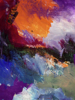 Abstract Landscape Painting - Wonderland- Art By Linda Woods by Linda Woods