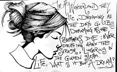 Carolyn Anderson Drawing - Wonderland by Carolyn Anderson