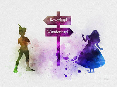 Mixed Media - Wonderland Or Neverland by Rebecca Jenkins