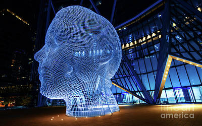 Photograph - Wonderland Sculpture Calgary by Bob Christopher