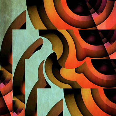 Curvilinear Painting - Wonderment by Barry W King