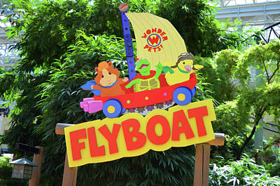 Rollercoaster Painting - Wonderpets Flyboat by Lanjee Chee