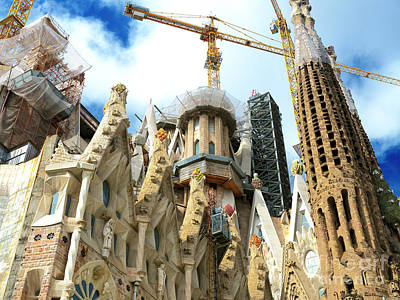 Photograph - Wonders Of Gaudi At Sagrada Familia Barcelona by John Rizzuto