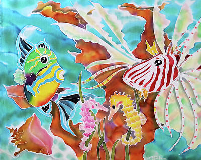 Painting - Wonders Of The Sea by Tiff