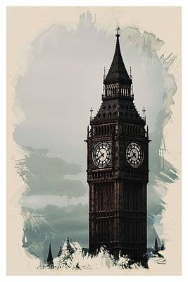Water Tower Place Painting - Wonders Of The Worlds - Big Ben Tower Of London by Celestial Images