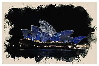 Sydney Harbour Painting - Wonders Of The Worlds - Opera House Of Sydney by Celestial Images