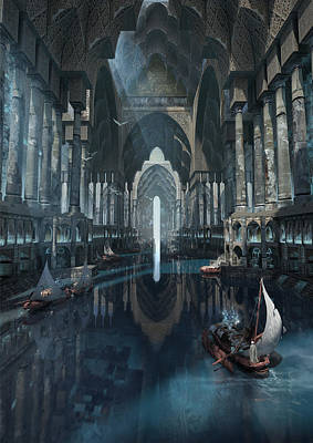 Environment Digital Art - Wonders The Canal Of Isfahan by Te Hu