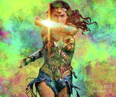Digital Art - Wonderwoman by Steven Parker