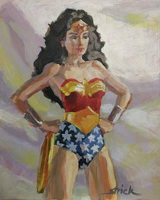 Painting - Wondie's Watching by Carol Strickland